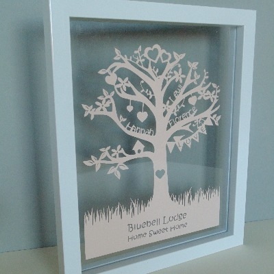 Family Tree Papercut - Classic Design