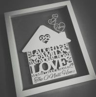 Home Sweet Home Papercut