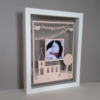 Church Photo Papercut (Godparents, Christenings, Weddings)