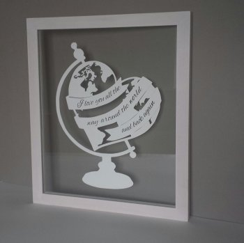 I Love You All The Way Around The World Papercut