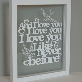 Any Words Typography Papercut (Quotes, Lyrics, Other)