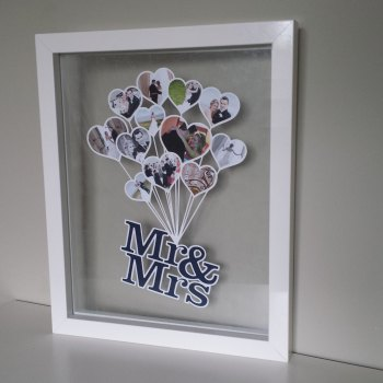 Mr & Mrs Balloon Papercut