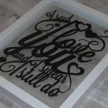 Any Words Script Papercut