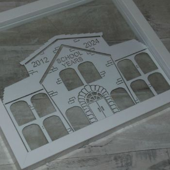 My School Years Photo Papercut Frame (School Design)