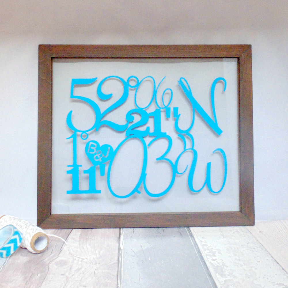 Coordinates of Special Place Papercut (Engagement, Wedding, Anniversary)