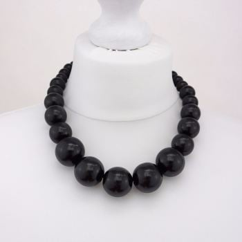 Black Chunky Necklace