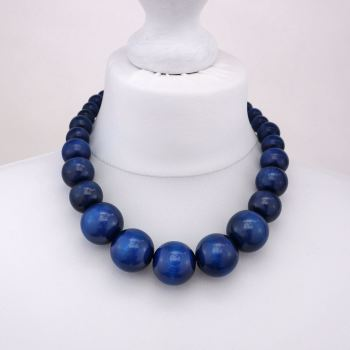Navy Blue Chunky Necklace