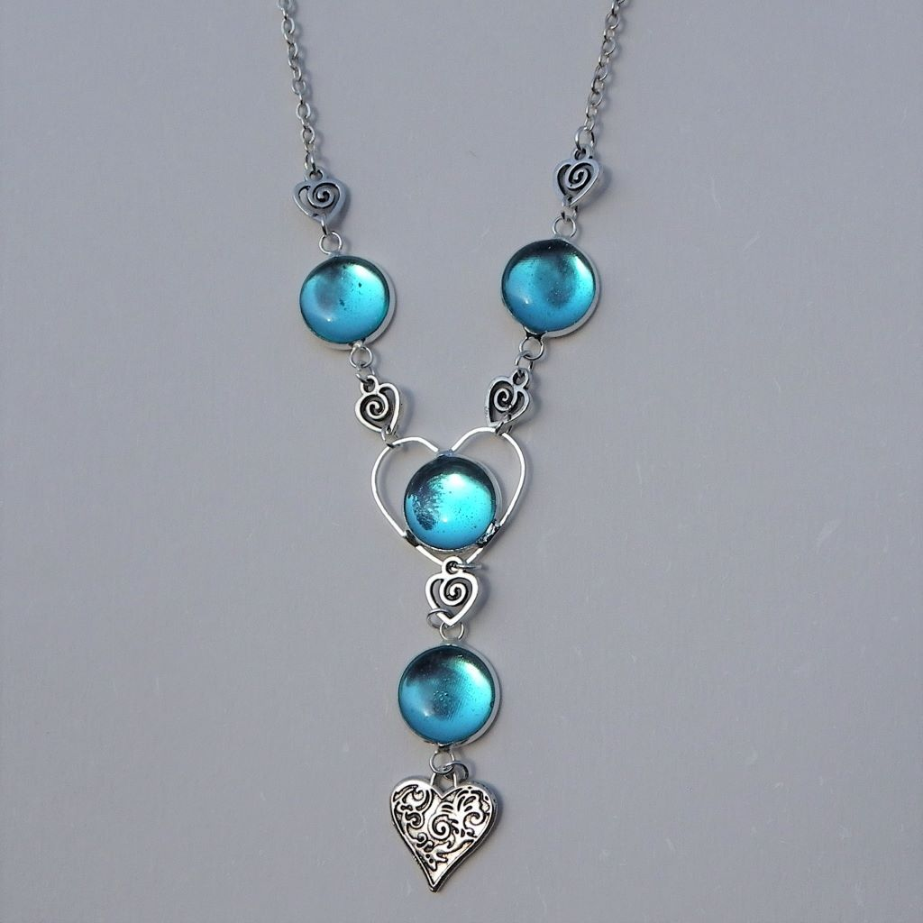 icy blue silk necklace