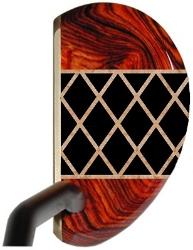 His & Her Argyle putters - Cocobolo / Ebony / Birdseye Maple
