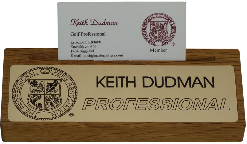 PGA Desk Card holder