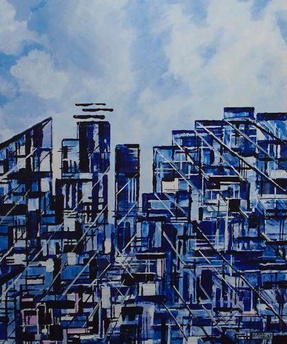 Urban Blue 2 FRAMED PRINT