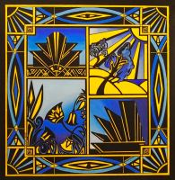 art deco blue