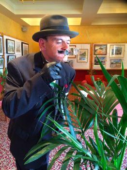 Poirot at the Agatha Christie Art Exhibition