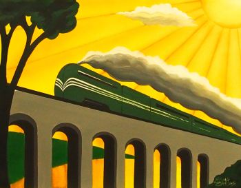 Art Deco Coronation Scot In Green