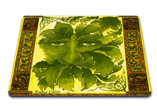 GREEN MAN PLACE MATS