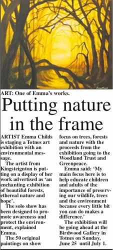Press Article solo exhibition