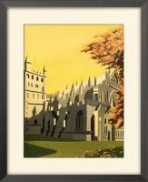 Art Deco Exeter Cathedral framed print