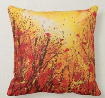 Summer Poppies Cushion
