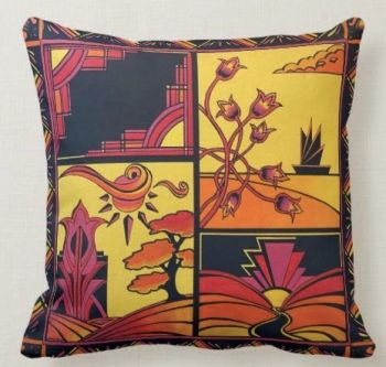 Art Deco Summer Cushion
