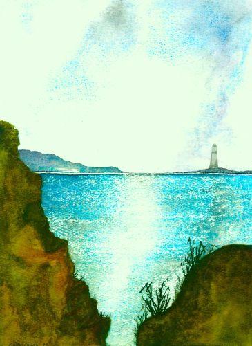 Sparkling Seas Of Devon FRAMED PRINT
