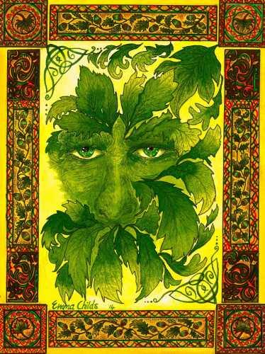 The Green Man.  FRAMED PRINT