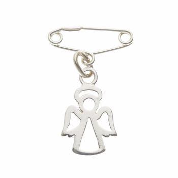 Silver Open Angel Pendant