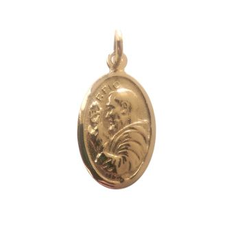 St Pio 9ct Gold Medal