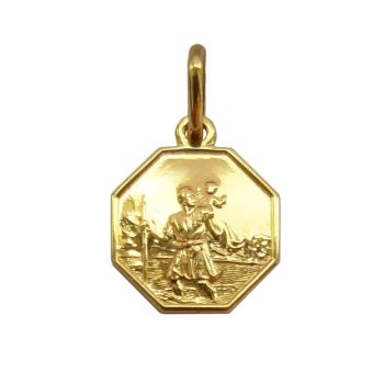 12mm 9ct St Christopher