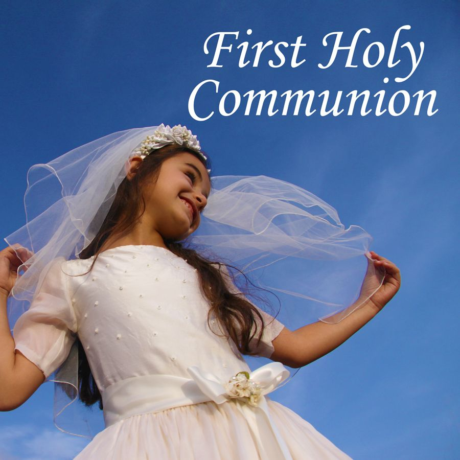 Girl in First Holy Communion Dress