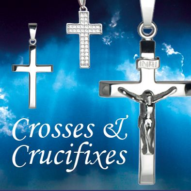 Sterling Silver  and Gold Crosses and Crucifixes