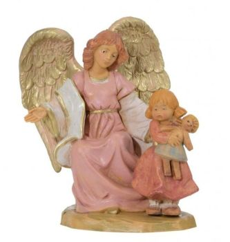 Guardian Angel with Girl, 10cm