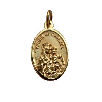 9ct Gold Virgin of Carmel Medal