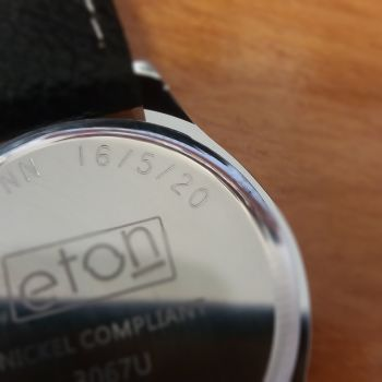 Watch engraved with name and date