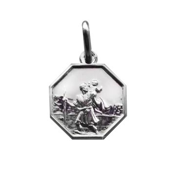 12mm Silver St Christopher