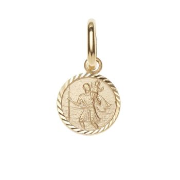 08mm 9ct Gold St Christopher