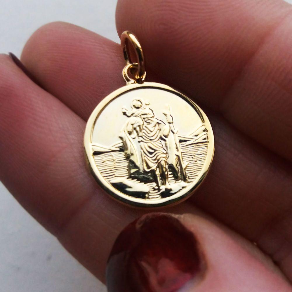9ct Gold St Christopher Medal