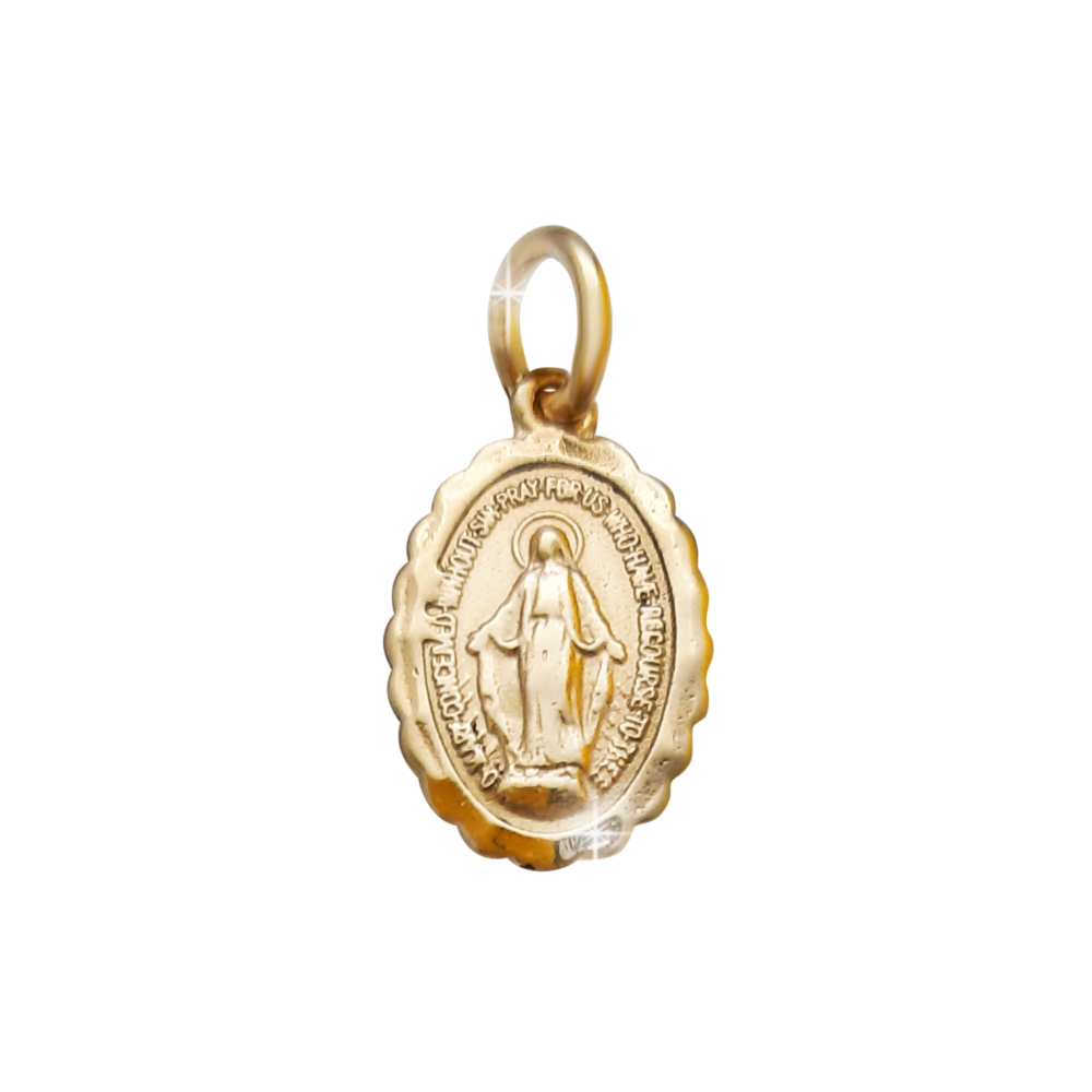 12mm 9ct Gold Miraculous Medal