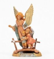 Guardian Angel with girl and boy 18cm