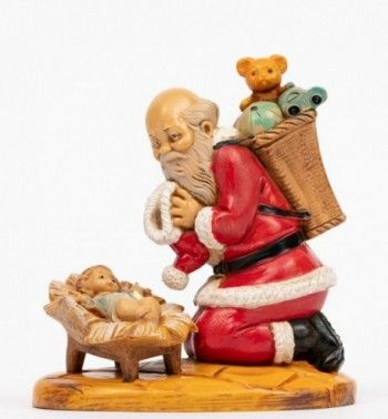 Santa Claus, St Nicholas, with gifts, 11cm