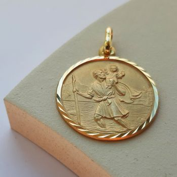 20mm 9ct St Christopher