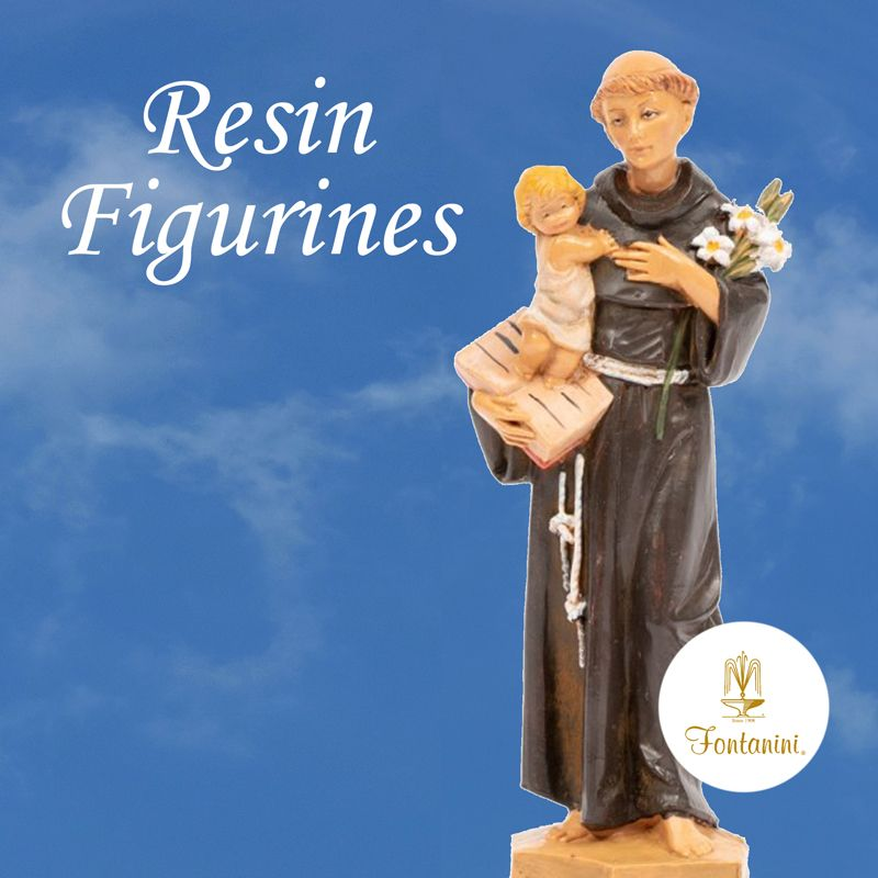 St Anthony resin figurine statue made by Fontanini