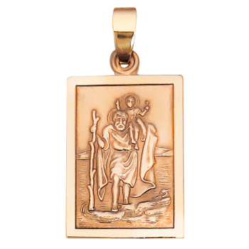 24mm 9ct St Christopher Medal