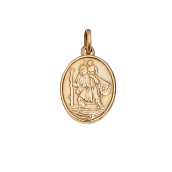 14mm 9ct St Christopher
