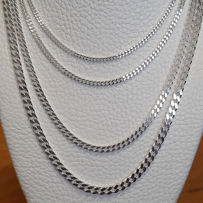 Sterling Silver Curb Chains