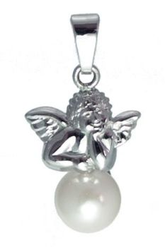 Silver Angel on Pearl