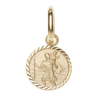 16mm 9ct Gold St Christopher