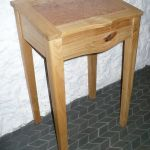 Writing desk in local Cherry with a Burr Maple panel