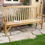 Garden bench in reclaimed oak