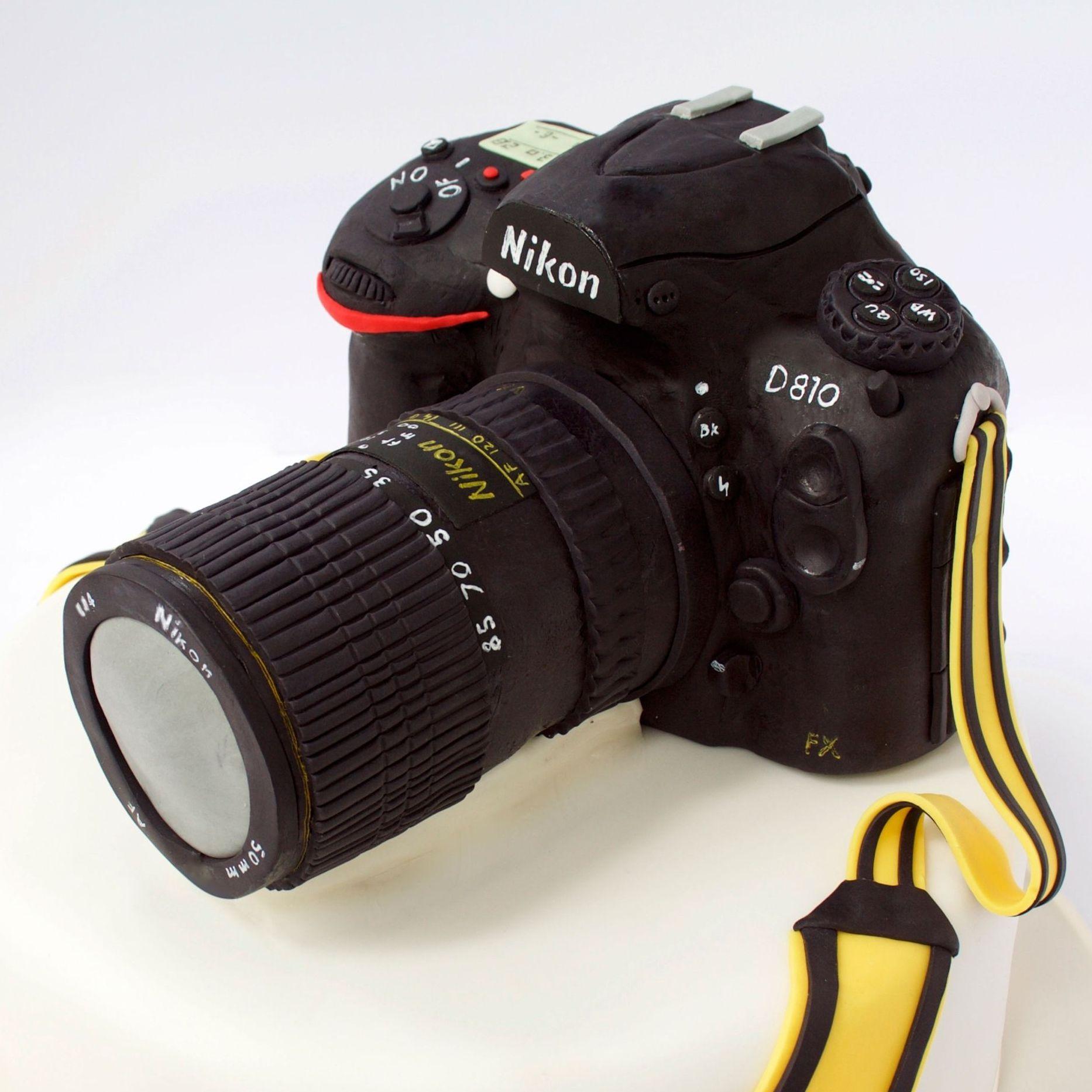 Nikon camera illusion cake