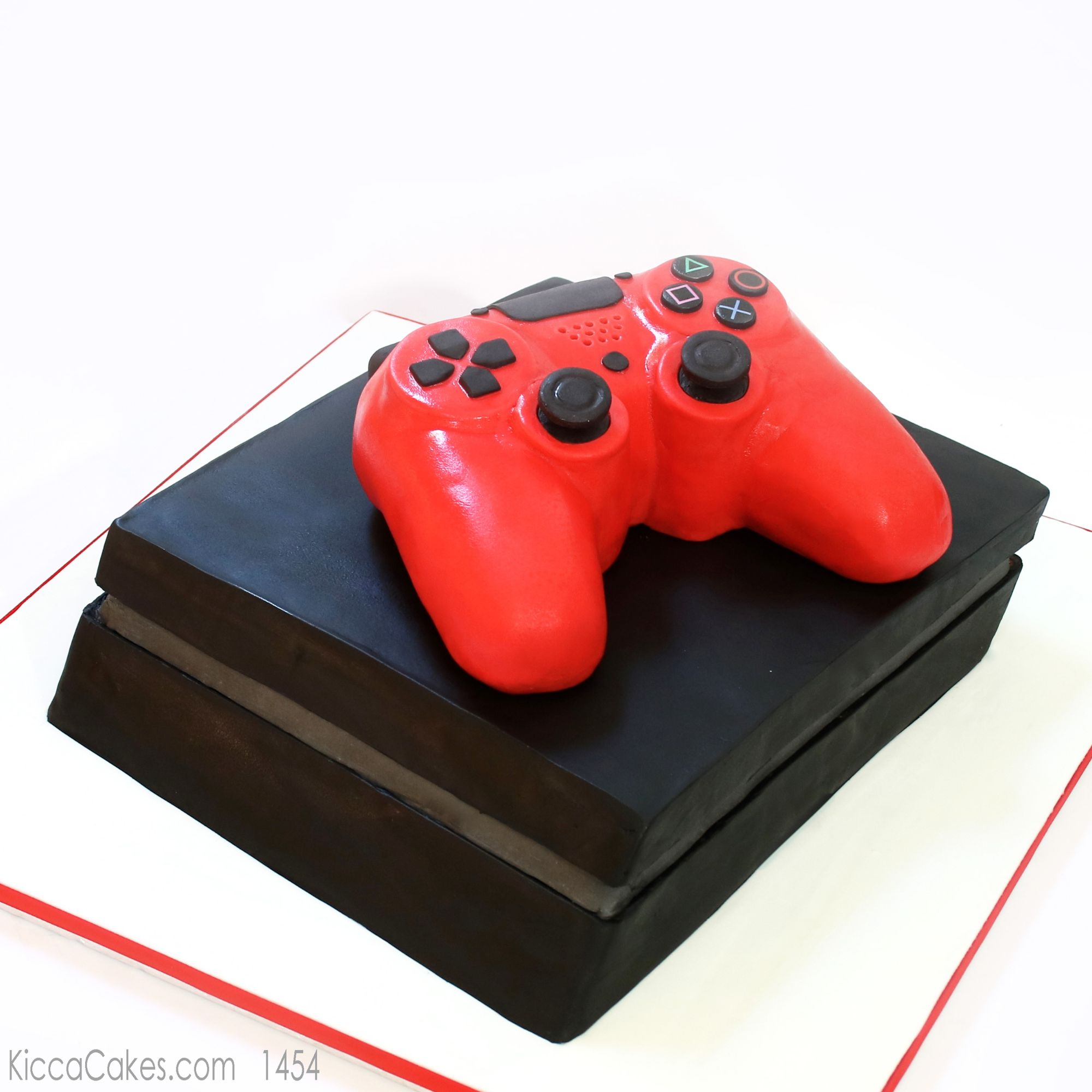 playstation and controller illusion cake